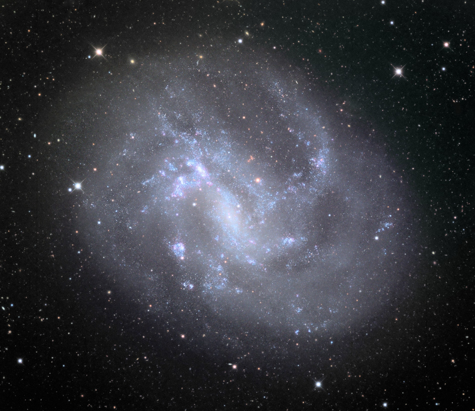 NGC 4395 is imaged with the Schulman Telescope at Mount Lemmon Observatory