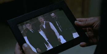 Bernard is a replica of Arnold (right), created by Robert Ford (left), after Dolores killed the orig...