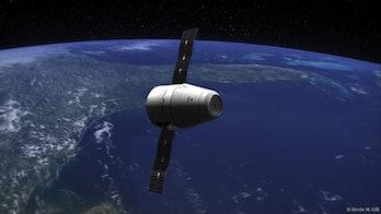 SpaceX Dragon Capsule - Earth