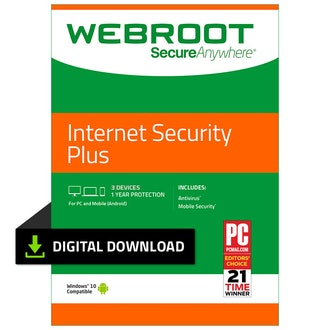 Webroot Internet Security Plus with Antivirus Protection