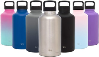 Simple Modern 40oz, Summit Water Bottle + Extra Lid - Wide Mouth Vacuum Insulated 18/8 Stainless Ste...