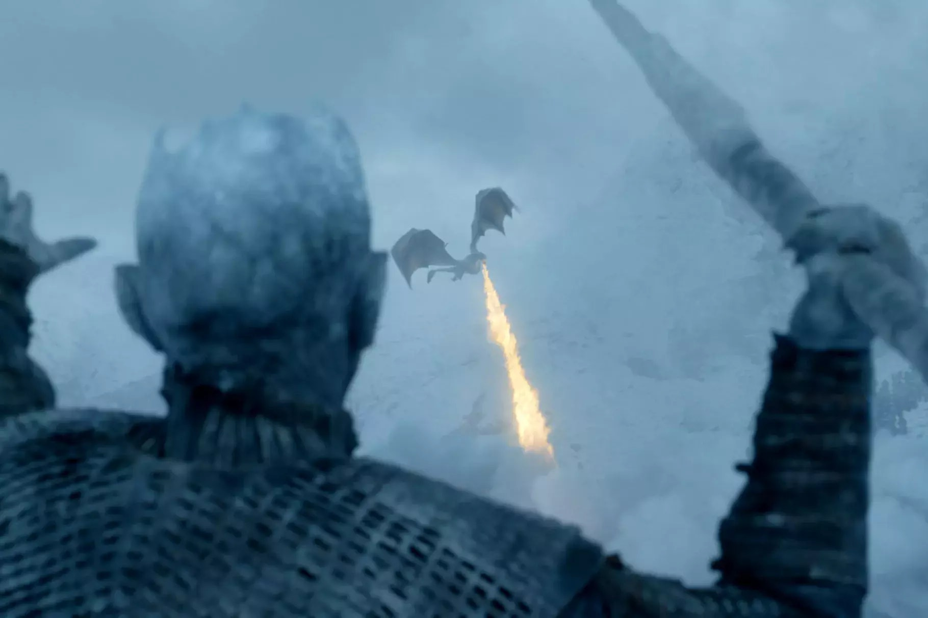 The Night King has incredibly accuracy with that ice spear.