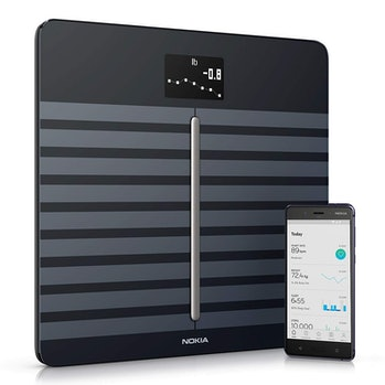 Withings / Nokia | Body Cardio – Heart Health & Body Composition Digital Wi-Fi Scale with smartphone app, Black