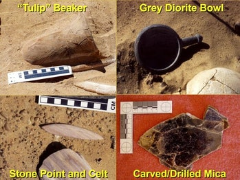 Grave artifacts from 2001-2003 excavations.