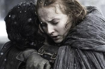 Sophie Turner and Kit Harrington in 'Game of Thrones'