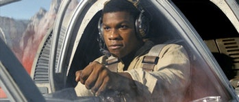 Finn in 'Star Wars: The Last Jedi'.