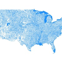 Map Uses Geological Survey Data to Show Every Body of Water in the U.S.