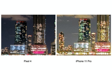 Pixel 4 8x digital zoom vs. iPhone 11 Pro
