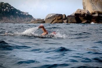 swimming ocean