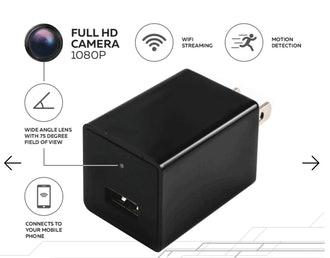 HD 1080P Surveillance Camera USB Phone Charger