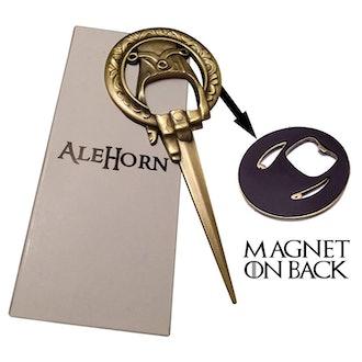 Ale Horn Hand of the King Bottle Opener