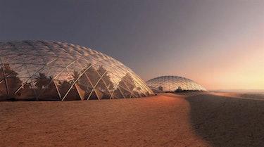 Concept art for Dubai's Mars City