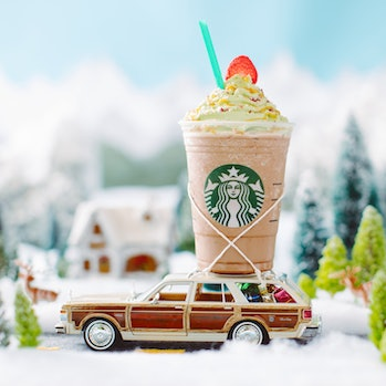 Christmas Tree Frappuccino.