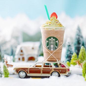 Christmas Tree Frappuccino.