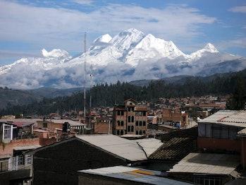 melting glaciers Huaraz Peru