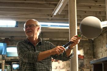 Industrial Light & Magic VFX supervisor Scott Farrar on the set of 'A Quiet Place'.
