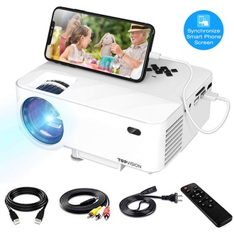 TOPVISION Video Projector with Synchronize Smart Phone Screen