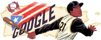 Roberto Clemente Google Doodle.