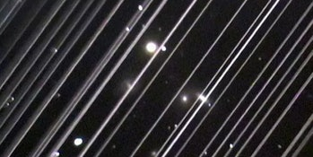 The trails of the Starlink satellites taken with a long exposure will ruin any chance of astronomical observation