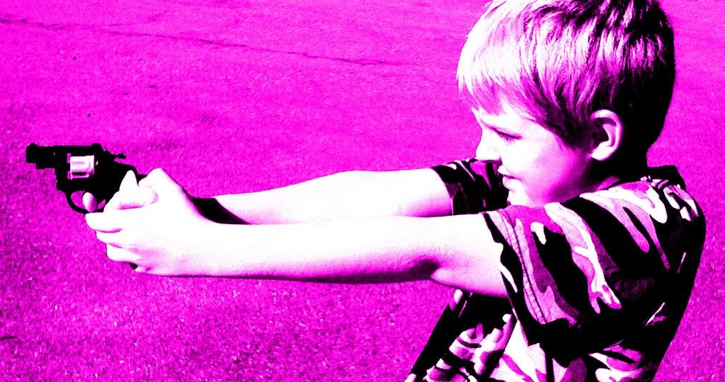 Gun study shows the influence violent movies have on children.