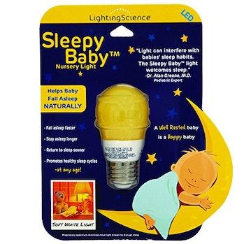 Amber light won't keep the baby awake the way blue light does