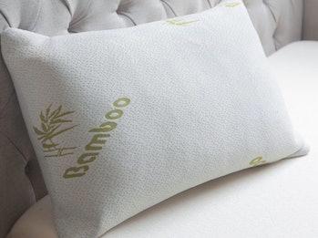 bamboo memory foam pillow, pillows, bed, mind, body, sleep