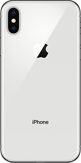 The silver iPhone X