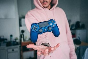 A PS4 controller.