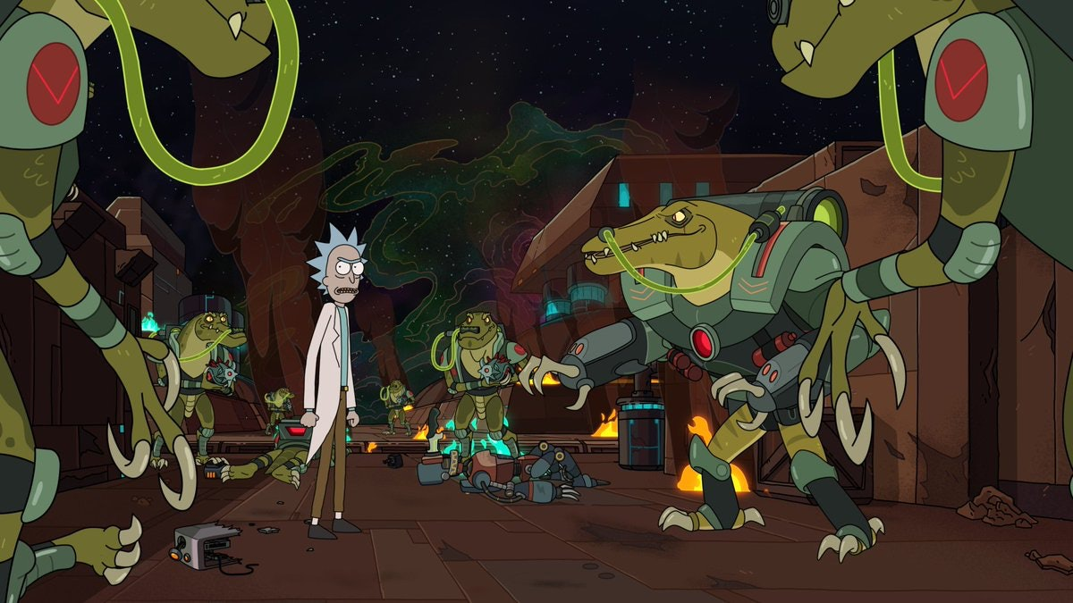 Rick and Morty Season 4 dinosaur cyborgs