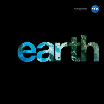 The cover of 'earth', recently released by NASA.