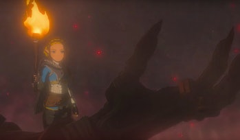 Still from Breath of the Wild sequel announcement trailer