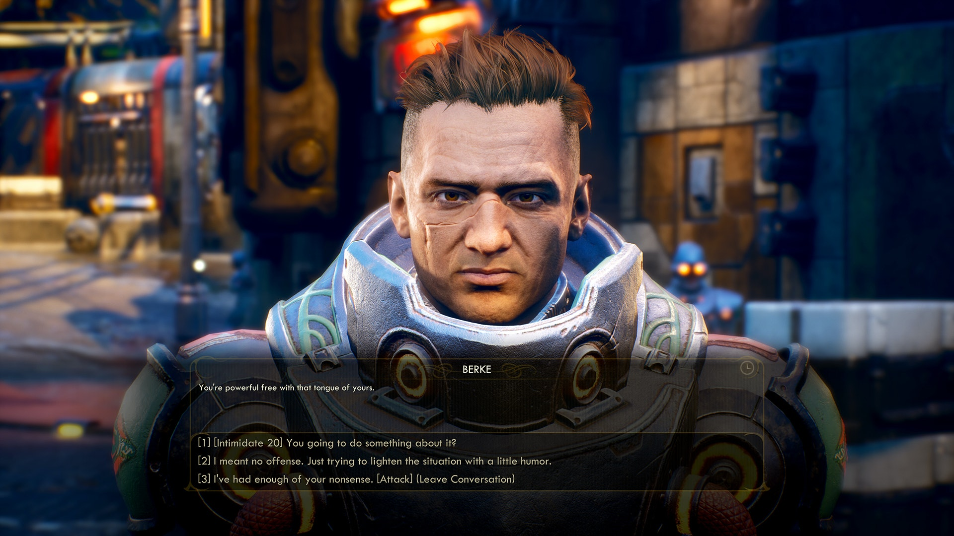 outer worlds dialogue choice