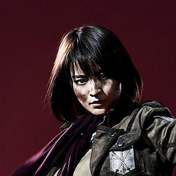 Minami Tsukuias Mikasa Ackerman in 'Live Impact Attack on Titan'