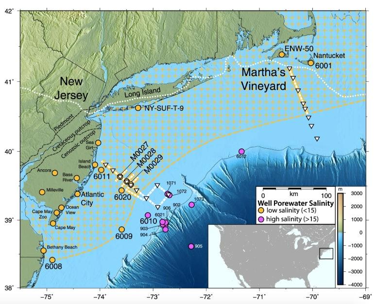 map of offshore aquifer