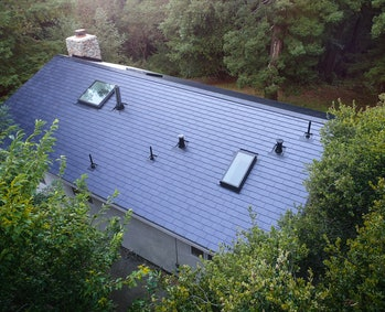 An aerial shot of the roof