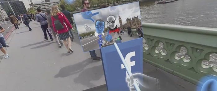 The virtual visit to London.