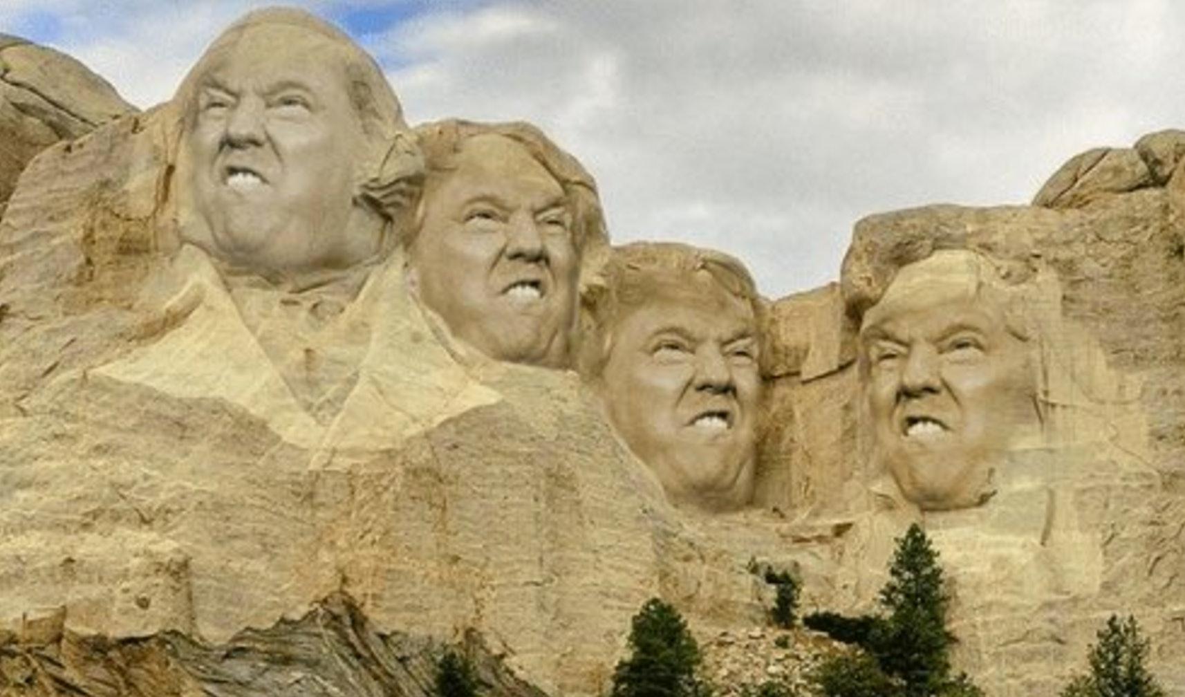 president donald trump mount rushmore