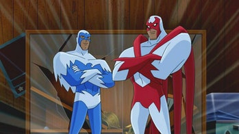 The Hall brothers as Hawk and Dove in 'Justice League Unlimited'.