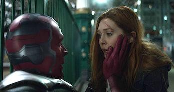 Wanda checks on Vision in 'Avengers: Infinity War'