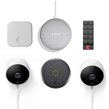 A home security video system.