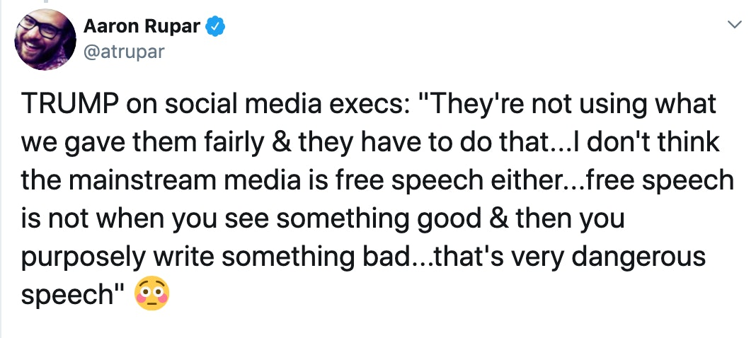 trump free speech