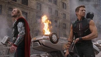 The Avengers Thor Hawkeye