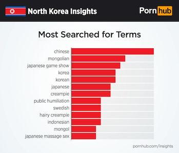 pornhub north korea