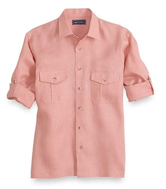 Paul Fredrick Men's Linen Casual Shirt