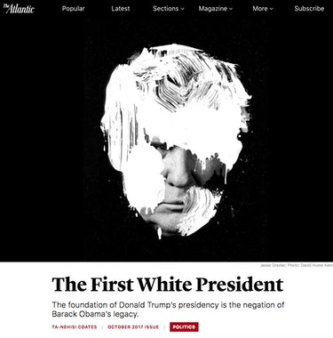 """The First White President"" as it appeared in The Atlantic."
