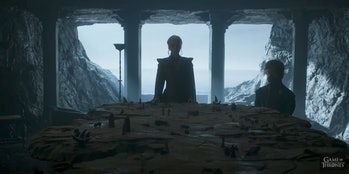 Dany and Tyrion in theChamber of the Painted Table on Dragonstone.