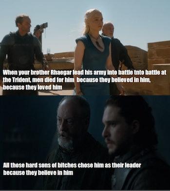 Jon Snow and his father Rhaegar Targaryen