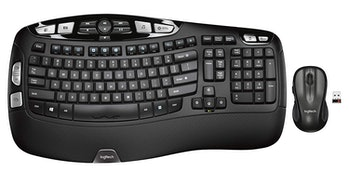 Logitech MK550 Wireless Wave Keyboard and Mouse Combo — Includes Keyboard and Mouse, Long Battery Life, Ergonomic Wave Design