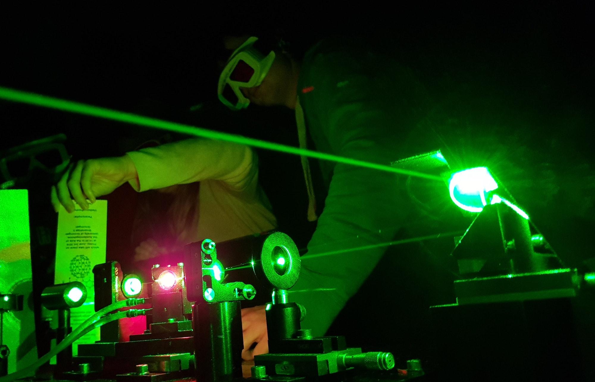A set up for ultra-fast spectroscopy.