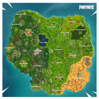 'Fortnite' Jigsaw Puzzle Pieces Locations
